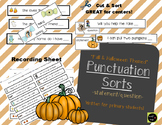 Fall Punctuation Sort (Fall and Halloween Theme)