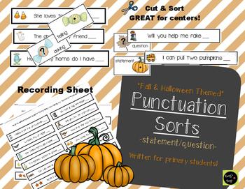 Halloween/Fall Punctuation Sort