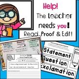 Sentences & Punctuation - Help! The Teacher Needs You! Rea