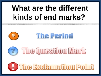 Punctuation Station - A Lesson on Sentence End Marks