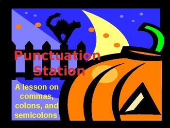 Punctuation Station Halloween 6th Grade