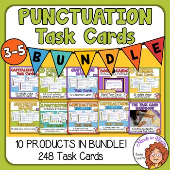 Punctuation Task Card Bundle