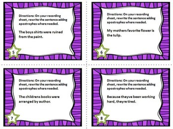 Punctuation Task Cards {The Bundle}