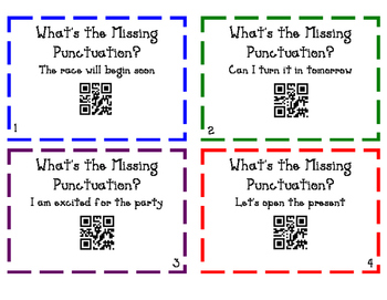 Punctuation Task Cards