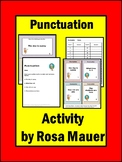 Punctuation Practice Task Cards and Worksheets