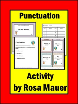 Punctuation Review Task Cards and Worksheet