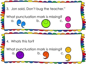 Punctuation Task Cards {What's Missing?}