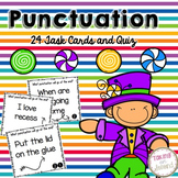Punctuation Task Cards and Quiz