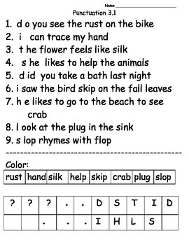 Punctuation Theme 3