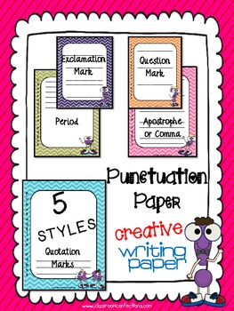 Punctuation Themed Writing Paper