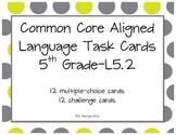 Comma Usage Task Cards Printable