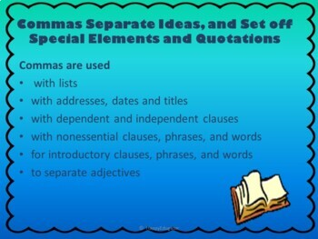Commas PowerPoint for TEST PREP