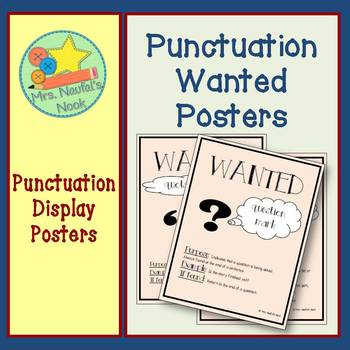 Punctuation Wanted Posters