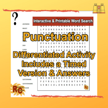 Punctuation Grade 5-10 Word Search