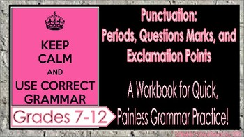 Punctuation Workbook for Middle and High School Classrooms (Grammar Worksheets)