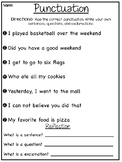 Punctuation Worksheets - Differentiated