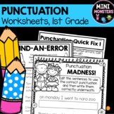 Punctuation Worksheets First Grade