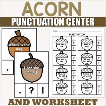 Punctuation and Capitalization Centers and Activities for Kindergarten