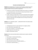 Punctuation and Capitalization Editing Review Worksheet