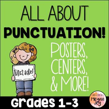 Punctuation and Capitalization Grammar Activities & Printables