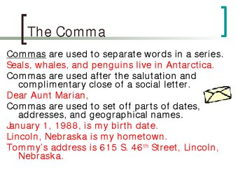 Punctuation and Capitalization Power Point