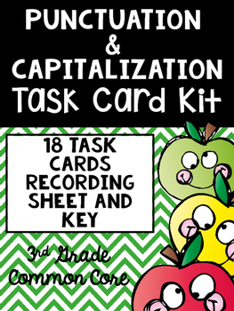 Punctuation and Capitalization Task Card Kit- Commas, Capi