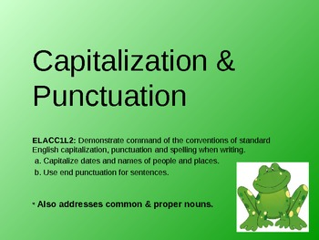 Punctuation and Capitalization with proper/common nouns