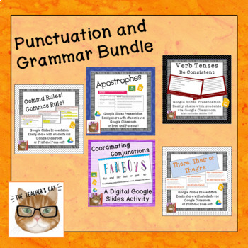 Paperless Punctuation and Grammar Review  Bundle