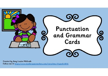 Punctuation and Grammar Cards