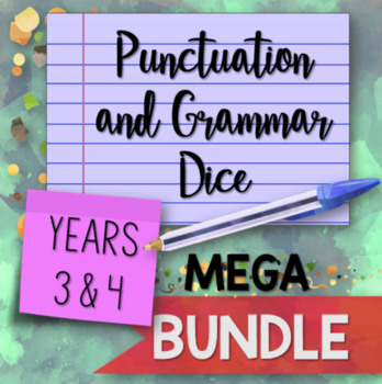 Punctuation and Grammar Dice for Years 3 and 4 Mega BUNDLE
