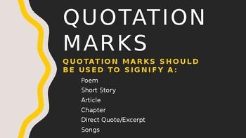 Punctuation and Grammar Skills PP