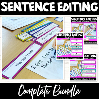 Punctuation and Spelling Editing Cards- 2 Levels