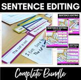 SENTENCE EDITING TASK CARDS | Bundle