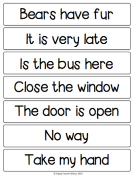 Punctuation and Types of Sentences Game and Sorting Activity
