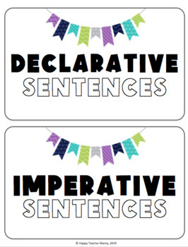 Types of Sentences & Punctuation Game and Sorting Activities