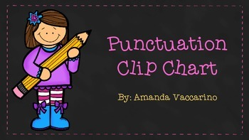 Punctuation clip chart