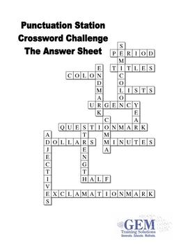 Punctuation crossword challenge