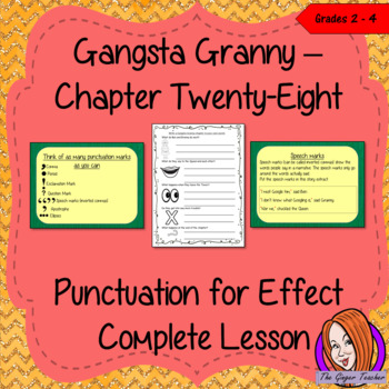 Punctuation for Effect English Lesson  – Gangsta Granny