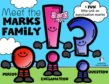 Punctuation For Kindergarten And First Grade The Marks