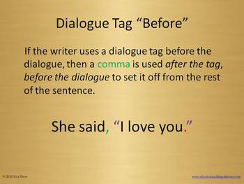 Punctuation in Dialogue PowerPoint (ver 2003, 2007 + pdf) Presentation
