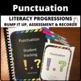 Punctuation literacy progression bump it up wall