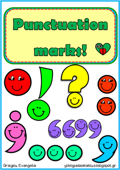 Punctuation marks with poems