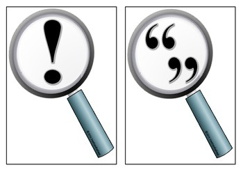 Punctuation on Magnifying Glasses