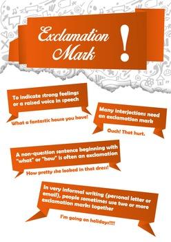 Punctuation poster set. Simple bundle