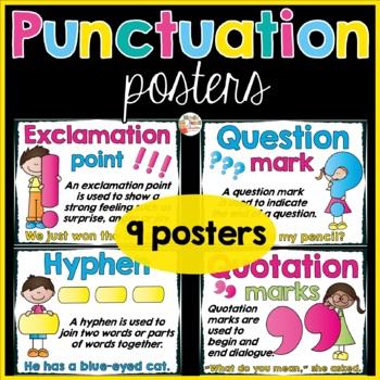 Punctuation Posters By Michelle Dupuis Education Tpt
