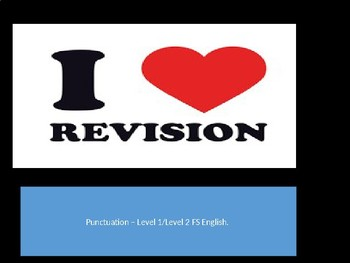 Punctuation revision Full lesson