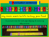 Punctuation sentence strips