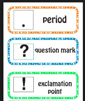 Punctuation slides