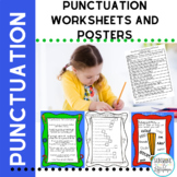Punctuation Posters and Worksheets for End Marks for 1st Grade
