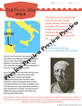 Punic War BUNDLE: 1st, 2nd and 3rd Punic War! {no prep packets!}